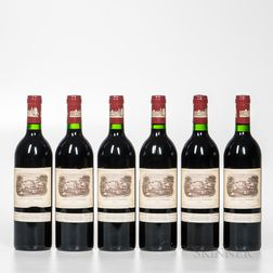 Chateau Lafite Rothschild 1986, 6 bottles
