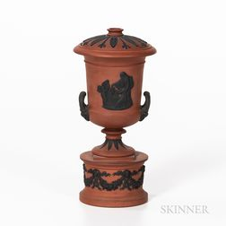 Wedgwood Rosso Antico Urn and Cover