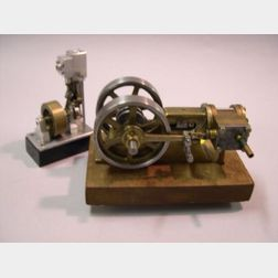 Two Miniature Brass and Steel Steam Engine Models