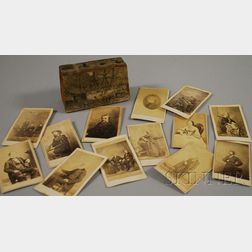 Thirteen Cartes de Visite of Notable 19th Century Figures