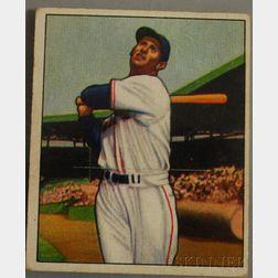 Bowman 1950 Ted Williams No. 98 Baseball Card.