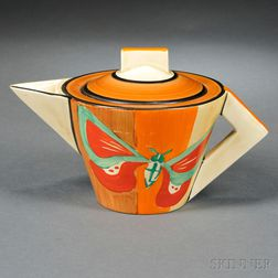 Clarice Cliff Butterfly   Pattern Teapot and Cover