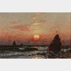 Alfred Thompson Bricher (American, 1837-1908)      Sunrise at Montauk