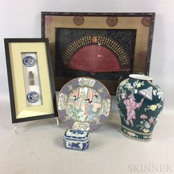 Five Modern Asian Decorative Items.
