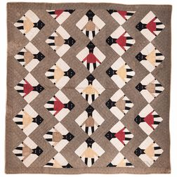 Black Dolls Pattern Quilt