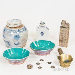 Six Asian Decorative Items