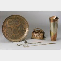 Six Pieces of Assorted Metalware