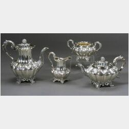 William IV Four Piece English Tea Set