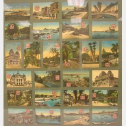 Framed Collection of Brazilian Postcards