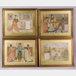 Lucy Fitch Perkins (American, 1865-1937)      Lot of Four Nursery Rhyme Illustrations: