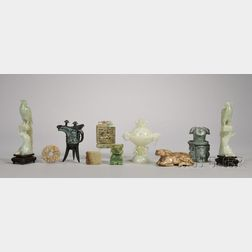 Group of Asian Jade and Decorative Items