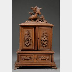 Black Forest Miniature Armoire-form Jewelry Box