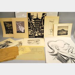 Mary Draser (American, 20th Century)      Portfolio of Works and Papers