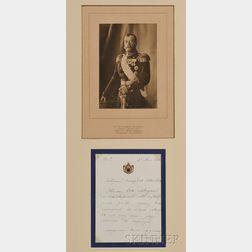 Tsar Nicholas II Autograph Letter and Photogravure