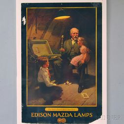 Two U.S. Advertising Lithograph Posters