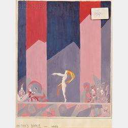 Russian School, 20th Century      Set Design for Anitra's Dance   for Henrik Ibsen's Peer Gynt ,  Act IV