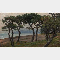 Charles Caryl Coleman (American, 1840-1928)      View of Capri Looking Toward Vesuvius