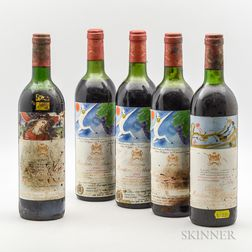 Chateau Mouton Rothschild, 5 bottles