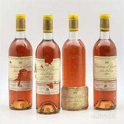 Chateau dYquem, 4 bottles