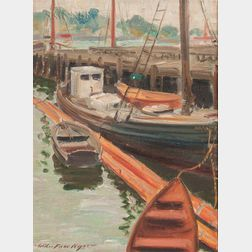 Wilber Fiske Noyes (American, 1897-1951)      Fishing Vessels