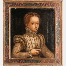 Manner of Sofonisba Anguissola (Italian, c. 1532-1625)      Young Noblewoman in White and Gold Holding a Book