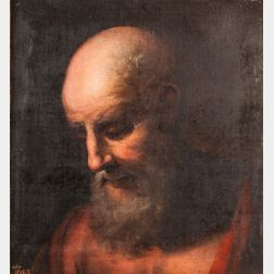 Manner of Peter Paul Rubens (Flemish, 1577-1640)      Head of a Bearded Man