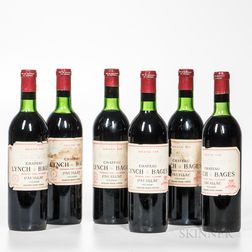 Chateau Lynch Bages 1970, 6 bottles