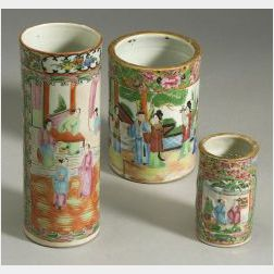 Three Cylindrical Vases