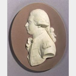 Wedgwood Lilac Jasper Dip Portrait Medallion of George IV