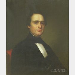 Albert Gallatin Hoit (American, 1809-1856)   Portrait of Pietro Bachi (aka Ignasio Batolo)