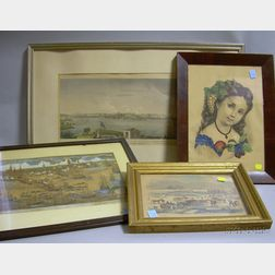 Four Framed Lithographs and Prints
