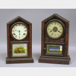 Two Connecticut Mahogany Mantel Clocks