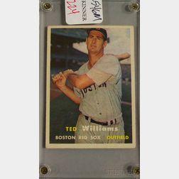 Topps 1957 Ted Williams No. 1 Baseball Card.