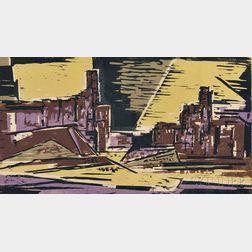 Werner Drewes (German/American, 1899-1985)      Arizona Evening