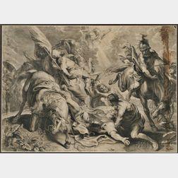 Schelte Adams Bolswert (Dutch, 1581-1659)      The Conversion of Saul, After Peter Paul Rubens