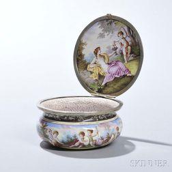 Limoges Enameled Porcelain Box
