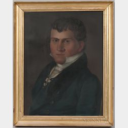 American School, Early 19th Century      Portrait of a Sea Captain, Reportedly James Oakes Knapp, Newbury, Massachusetts