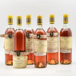 Chateau dYquem 1967, 6 bottles