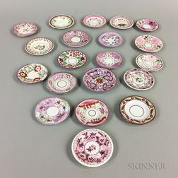 Twenty Mostly Pink Lustre Cup Plates