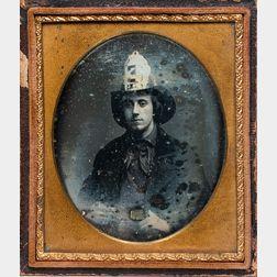 Sixth-plate Daguerreotype Depicting a Fireman