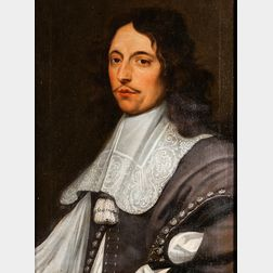 British School, 17th Century      Portrait of a Man in Military Dress