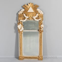 Carved and Gilded Illuminati Mirror