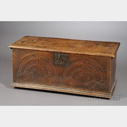 English Elmwood Blanket Chest