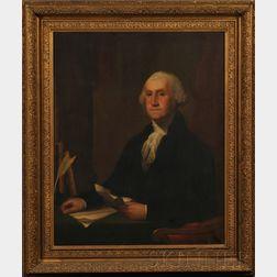 Moses Wight (Boston, 1827-1895)      Portrait of George Washington.