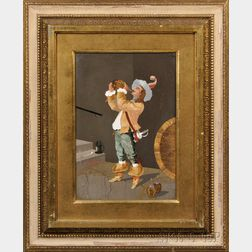 Framed Italian Pietra Dura Plaque