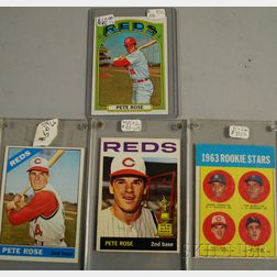 Four Topps Pete Rose Baseball Cards