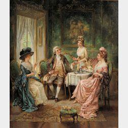 Percy (Edward Percy) Moran (American, 1862-1935)      Tea Time