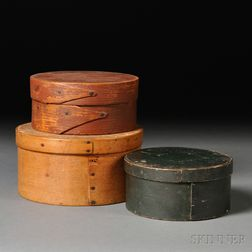 Three Round Lapped-seam Storage Boxes