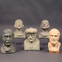 Five Mostly Doris Appel Sculptures and Three Medical Postage Stamp Collections