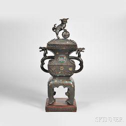 Bronze Champleve Censer